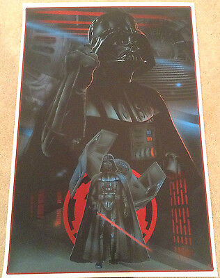 The Force Awakens Legends Of Star Wars Darth Vader Movie Poster #/75 Kelly Mondo