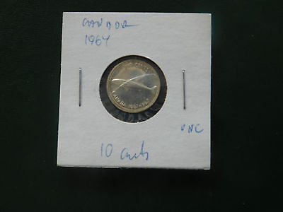coins canada.10.cents.1967.silver....#976