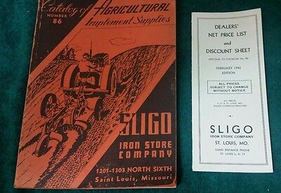 SLIGO Agricultural Implement Supplies Catalog No. 86 1941 With Price List