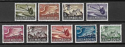 Luxembourg Sc#C7-15 LH 1946 Castles & Airplanes Air Mail Issue