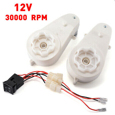 2x12V 30000RPM Electric Motor Gear Box For Kids Ride On Bike Car Toys Spare Part