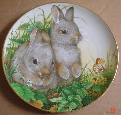 Lovely Rabbit Collectors Plate ROYAL SOCIETY FOR NATURE CONSERVATION