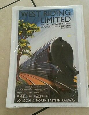 Vintage Style West Riding Limited London Railway Poster Print A4