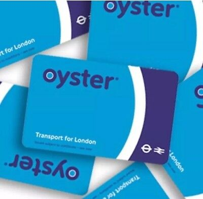 2 X London Oyster Travel Card Preloaded  With £5 Subway/Buses Travel Credit