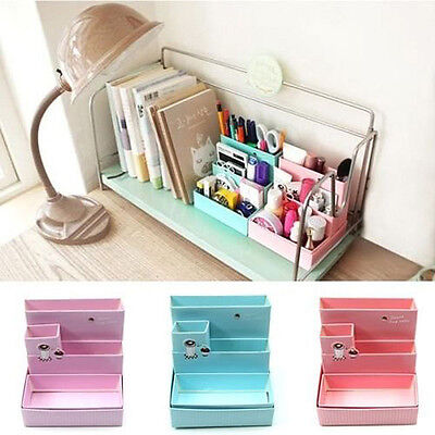 DIY Paper Board Desk Decor Storage Box Stationery Cosmetic Makeup Organizer