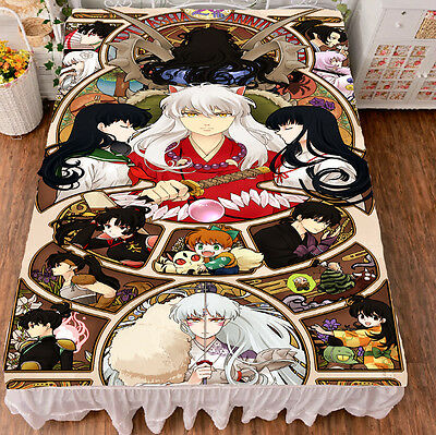 InuYasha Sesshoumaru Anime Bed Sheets Bedspreads Coverlets Cosplay HD Printing#2