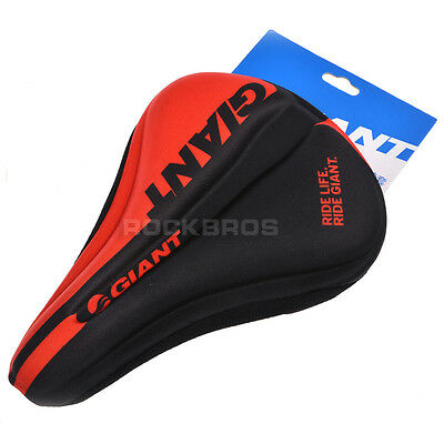 GIANT Bike 3D Silicone Gel Pad Seat Saddle Cover Soft Cushion Black Red