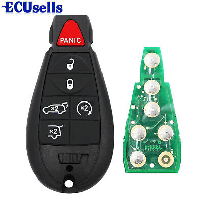 Fob Remote Key for Chrysler Town,Country 433Mhz ID46 Chip 5+1 Button 2008-2012