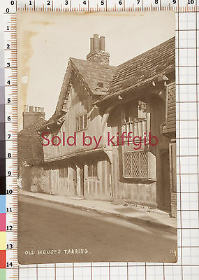 Old houses Tarring Sussex vintage postcard some discolouration