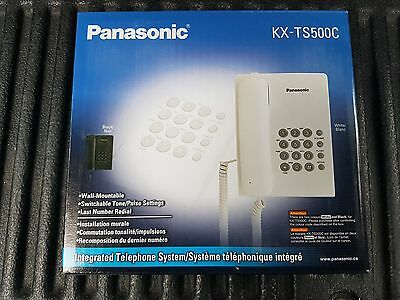 Brand New Panasonic KX-TS500 Black Desktop Telephone