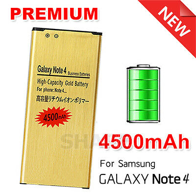 High Capacity 4500mAh Gold Replacement Battery For Samsung Galaxy NOTE 4 N9100