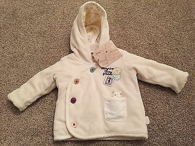 BNWT M&S Winnie The Pooh Jacket/Coat Up To 1 Month Cream *Lovely Gift*