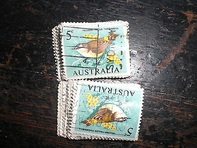 1966 5c yellow-tailed thornbill used stamps  a lot of 100