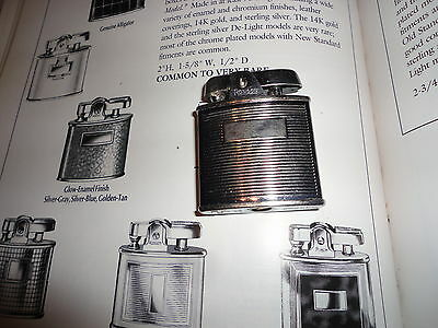 Old Ronson Standard  crome lines pattern made UK 2&1/16by1&11/16 inch