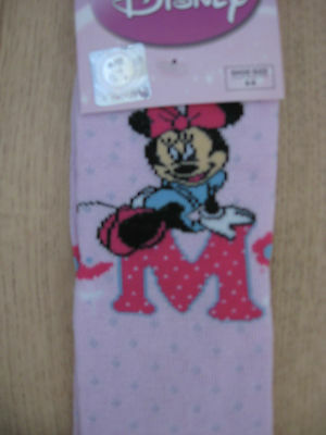 Girl's Disney Mickey Minnie Mouse Pink Age 2 - 3 Years Shoe Size 6 - 8