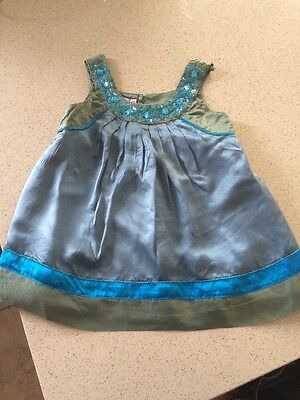 Monsoon Girls Silk Blouse Age 4-5 Years