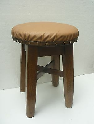 VINTAGE solid oak PUB STOOL by D JEFFERSON Co