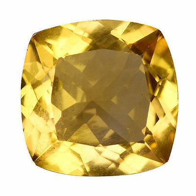 4.865 Cts Fantastic Luster Yellow Natural Citrine Cushion Loose Gemstones