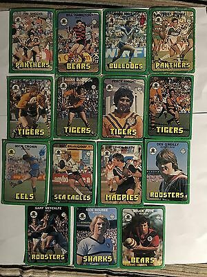 16/1978 scanlens rugby league trading cards