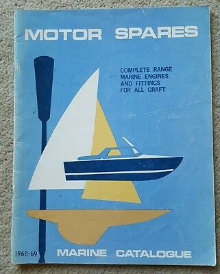 MOTOR SPARES MARINE CATALOGUE 1968-69 Holden 186 Ford Falcon V8 Marine Diesels