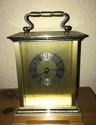 Lovely Vintage Battery Operated Quartz Gold Carriage Clock