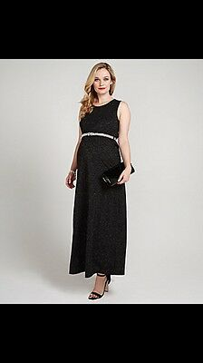 Size 14 Maternity 'blooming marvellous' Black Dress Christmas Party