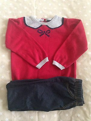 Lovely Girls Winter Outfit 2-3 Yr, Jumper/Jeggings,Jasper Conran, Fab Condition