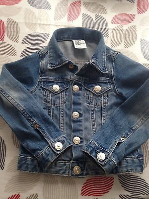 Girls Trendy Denim Jacket From H&M Age 2-3 Only Worn Handful Of Times
