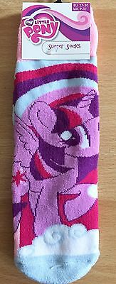 Bn Girls My Little Pony Slipper Socks Size 6-8, Free Postage