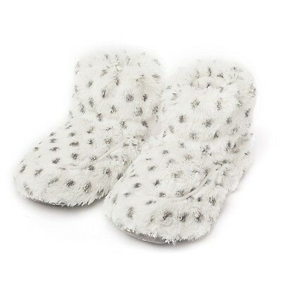 Intelex WARMIES Microwavable SNOWY Lavender Scented COZY PLUSH BOOTS