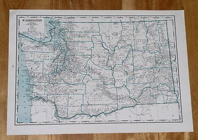 1941 Antique Wwii Map Of Washington / West Virginia On Reverse Side