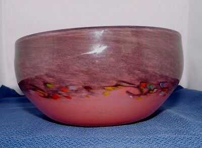 Strathearn glass bowl leaping salmon mark to base