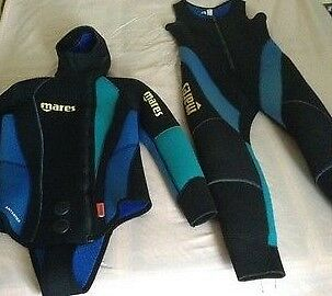 mares ladies two piece wetsuit 7mm ideal for cold water diving size  10/12