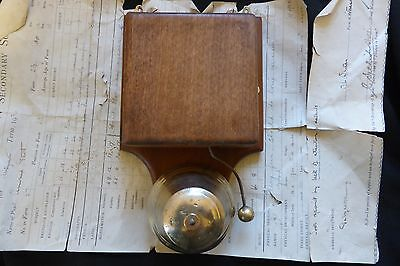 Restored Antique Wood & Brass Electric Conical Doorbell - 12 volts(butlers maid)