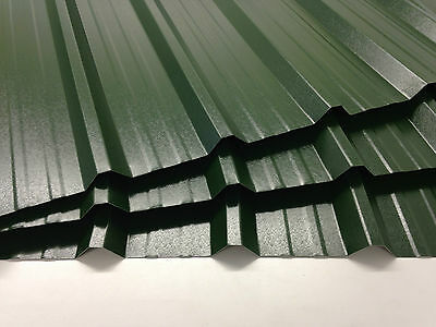 Box profile roofing sheets, Plastic Coated,0.5mm,Juniper Green,