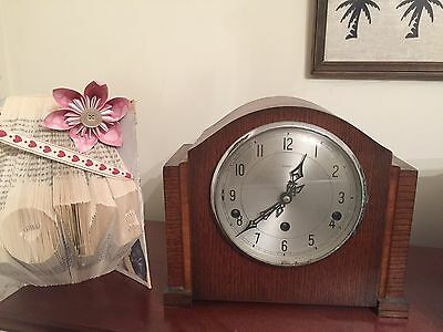 Vintage Enfield Mantle Clock With Key