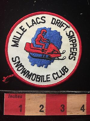 Mille Lacs Drift Skippers Snowmobile Club Minnesota Patch ~ Snow 69ZZ