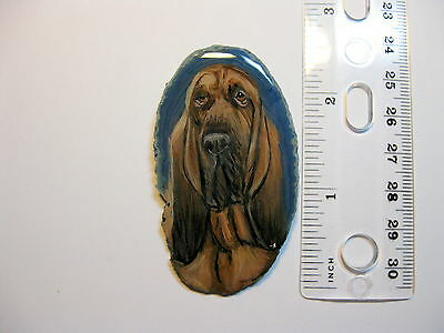 bloodhound dog pin/necklace on agate