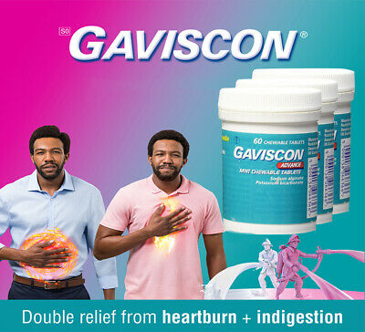 Gaviscon Advance Chewable Tablets Peppermint x 60 Multi Pack Size