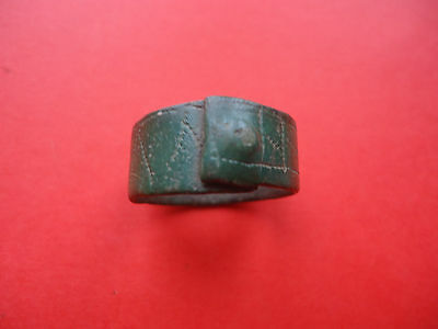 Antique Medieval Bronze Ring