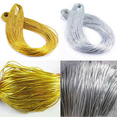 100M Metallic Silver Gold Purl Wire Coil Bullion Cord Craft DIY Jewelry 1.0mm