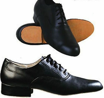 Mens Full Leather Ballroom Character shoe with soft leather sole B graded item