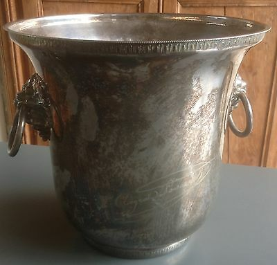 """Silverplated French """"VEUVE  CLICQUOT """" champagne / wine cooler, ice bucket"""