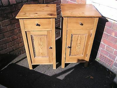 Pair of Old Pine Bedside Cabinets