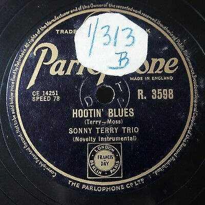 """SONNY TERRY TRIO / Tommy REILLY, Harmonica - Parlophone R.3598 """"BOP! goes..."""