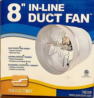 """Suncourt Inductor 8"""" In-Line Duct Booster Fan"""