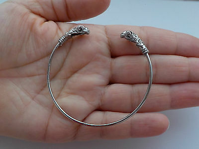 Silver Ram's Head Bangle Metal Detecting Find