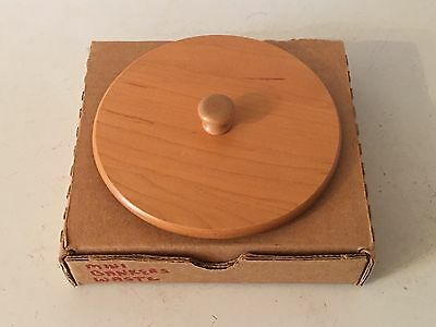 Longaberger 2001 Collectors Club JW Miniature Bankers Waste Basket Lid #50946