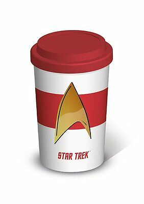 Star Trek - Insignia - Double Wall Ceramic Travel Mug With Silicon Lid