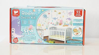 Walltastic Baby Room Decor Under the Sea Room Sticker Kit for Kids bedrooms